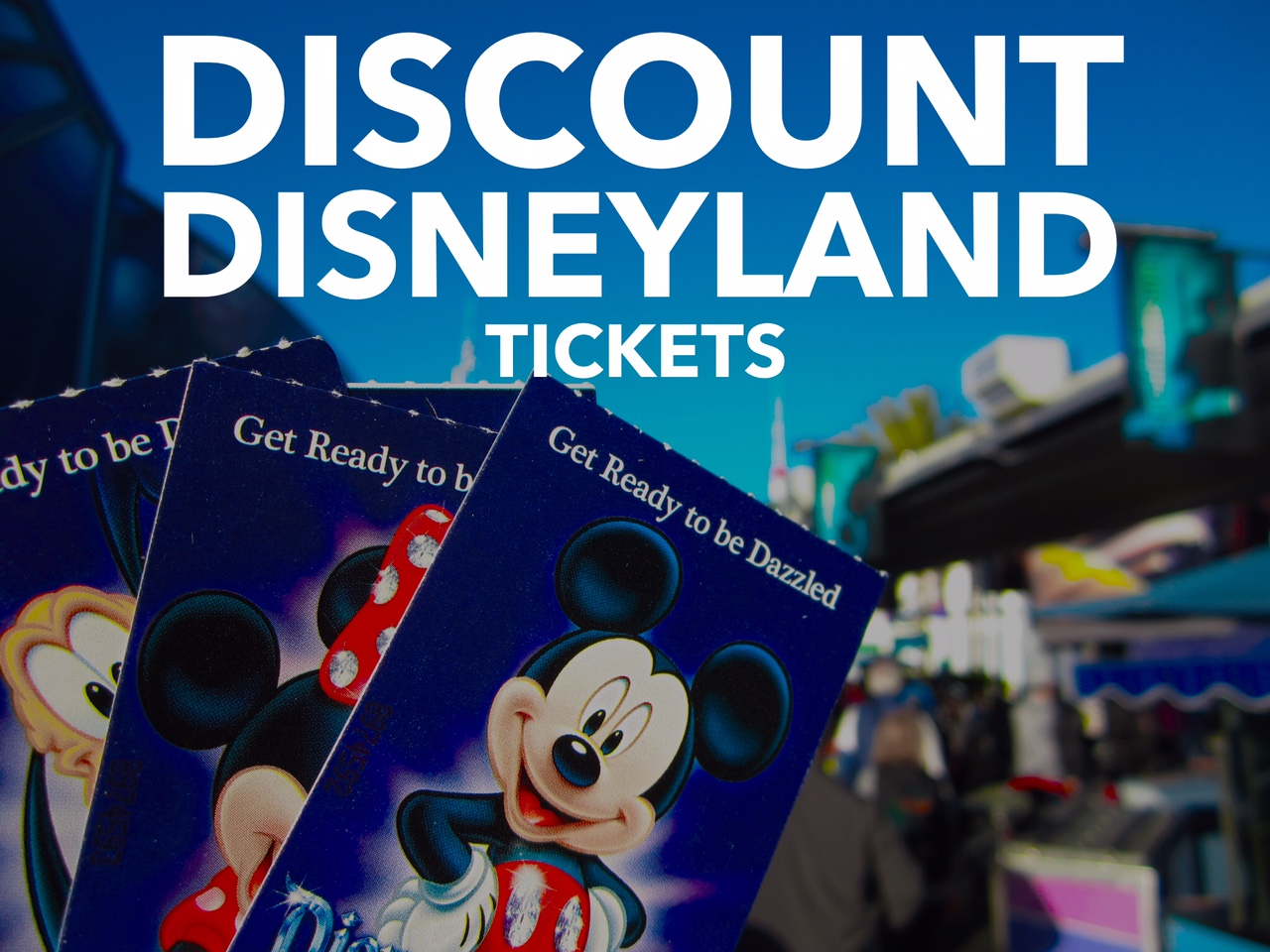 One adult ticket to disneyland for one day
