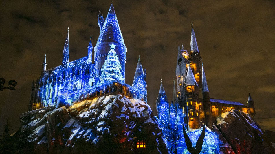 universal studios hollywood christmas harry potter show guide