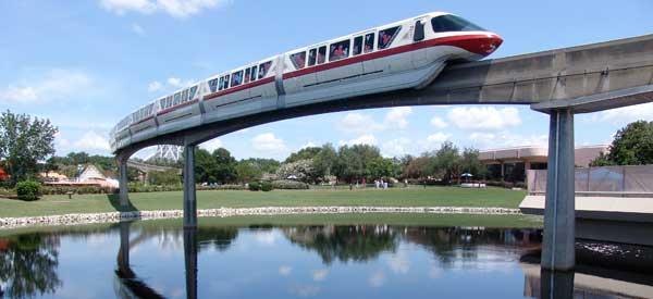 Disney World monorail