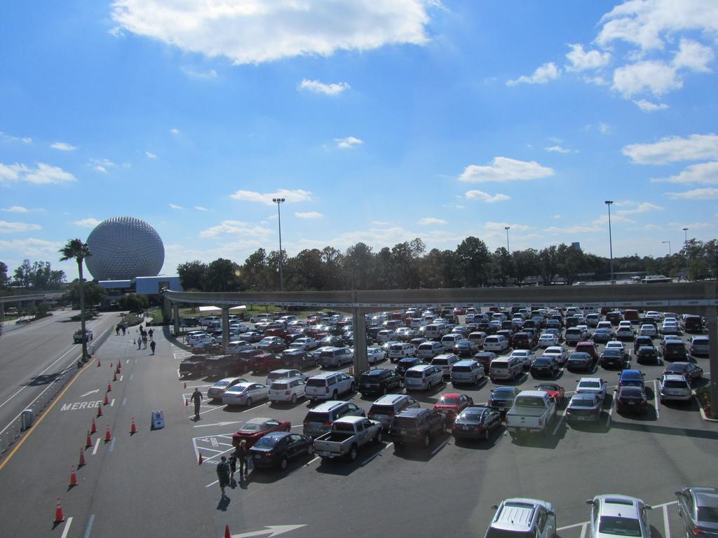 Parking car lot at Disneyland.
