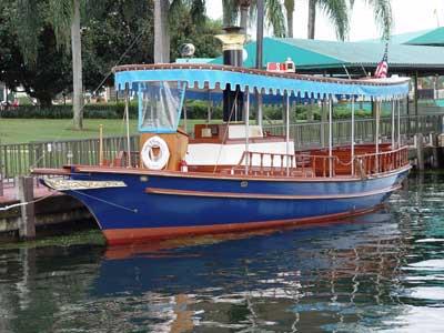 Disney boat in water