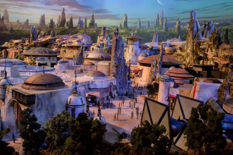 Star Wars Galaxy's Edge preview concept art for Disneyland for Disneyland in May