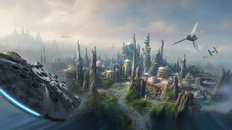 Star Wars Land artwork by Disney artists