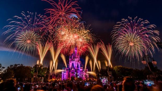 Walt Disney World's Princess Castle on July 4th