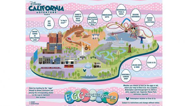 Easter Egg Hunt map for Disneyland