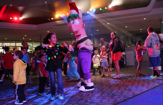 Christmas Dance Party hosted by club Tinsel.