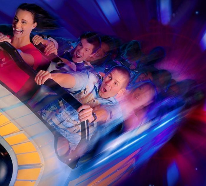 Heart pounding ride, Space Mountain, for teens and tweens to enjoy!