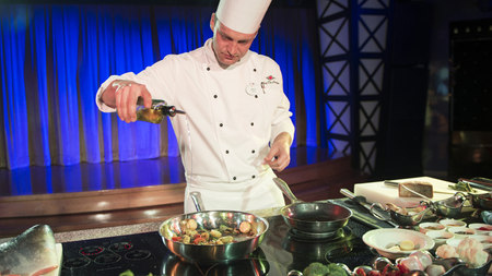 Chef at Epcot Food and Wine Festival