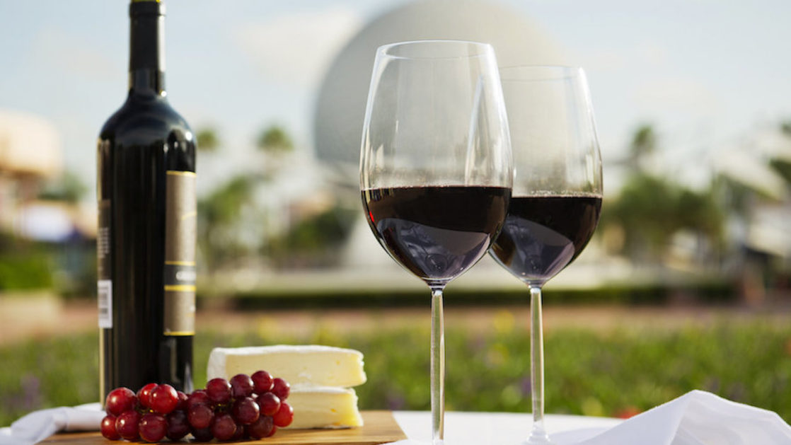 Wine in front of Epcot