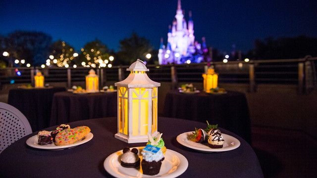 Fireworks and Holiday Desserts for Mickey's Christmas Party.