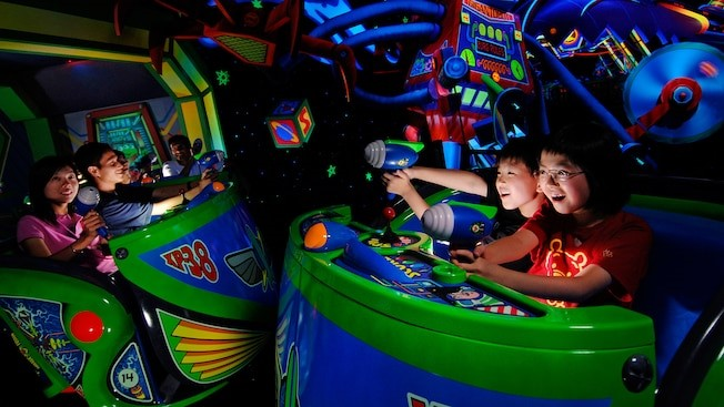 Inside Buzz Lightyear's ride