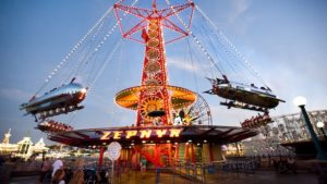 The Red Zephyr is an old time favorite where you and your family can ride sky high in a silver bullet.