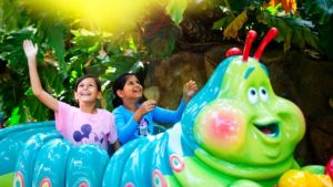 Heimlich's Chew Chew Train is A Bugs Land classic where you follow Heimlich throughout the world of delicious human food. Unfortunately this will be closing to welcome the new Marvel characters.