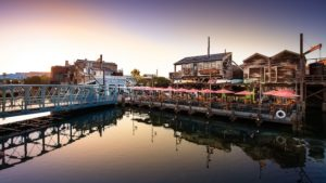 Pacific Wharf is located right before Pixar Pier and has a ton of delicious food options right above the water.
