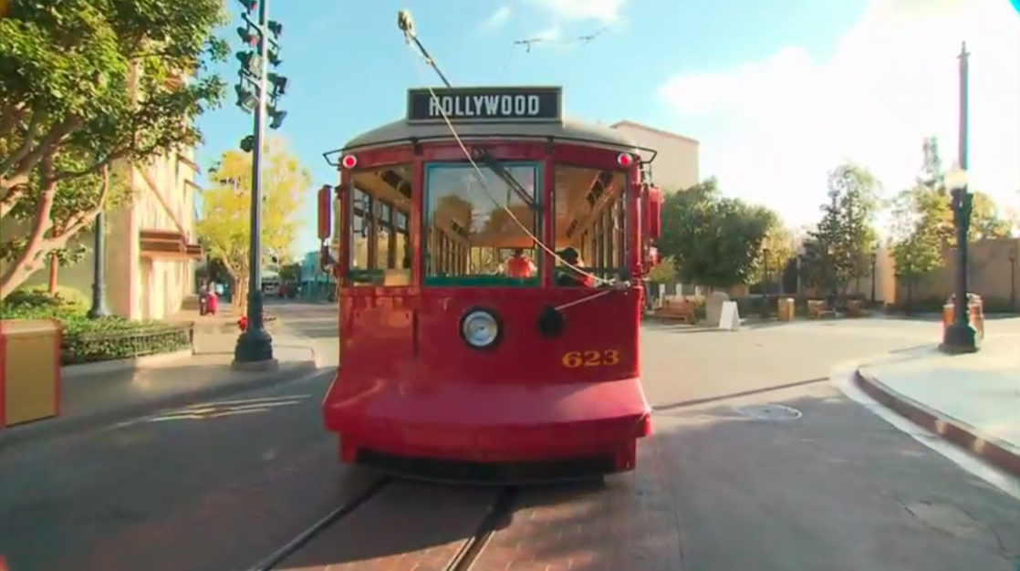 Red Trolley Car on Buena Vista Street