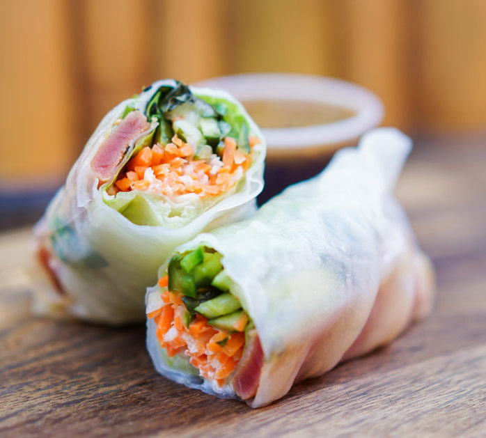 Ahi Tuna Spring Roll is the perfect Disneyland health foods to keep your protein levels up for the day.
