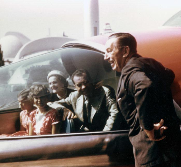 Walt Disney wearing his classic suit. This is where Disneyland Dapper Day originated.