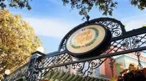 Signage of the French Market in New Orleans Square at Disneyland