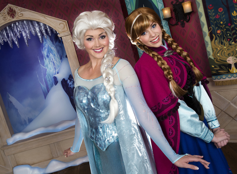 Elsa and Anna smiling