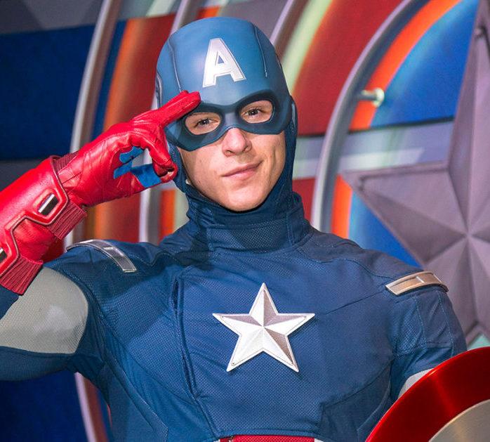 Captain America doing the salute