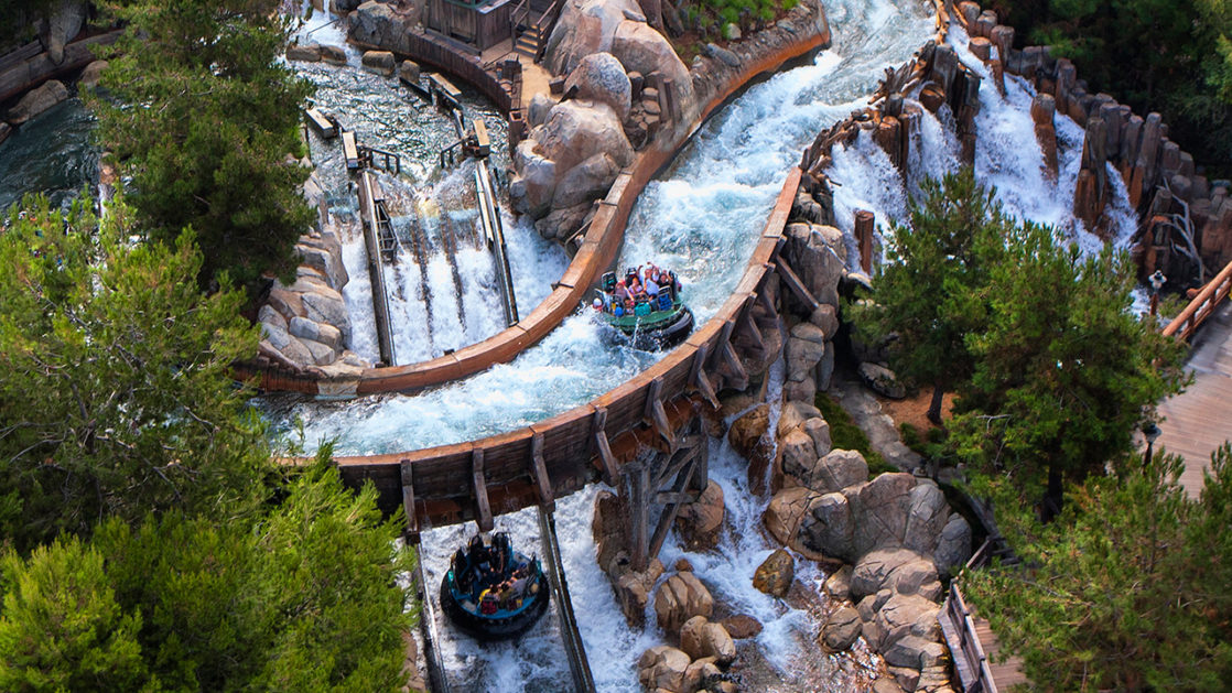 Grizzly River Rapids aerial view