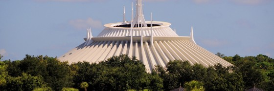 Disneyland Ride Guide: Top of Space Mountain building
