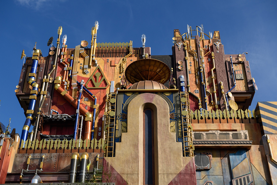 California Adventure morning strategy: Close up of the Guardians of the Galaxy Ride