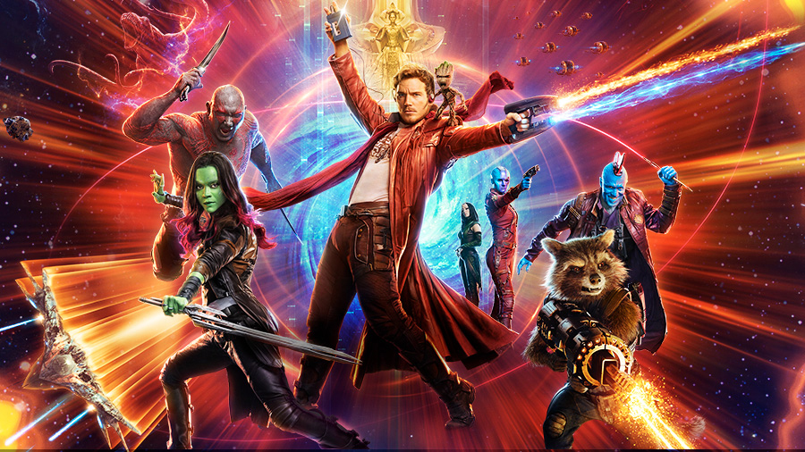 Promo image of the Guardians of the Galaxy characters