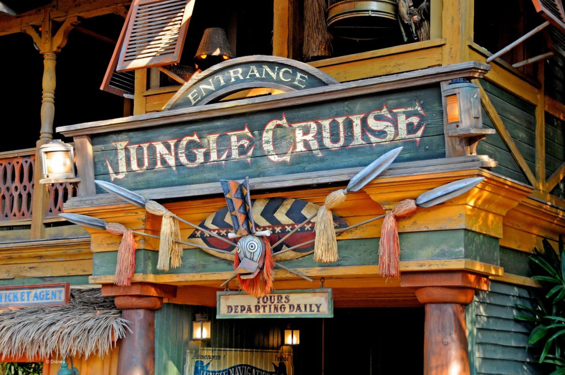 Outside of Jungle Cruise attraction sign