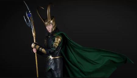 Loki with black background