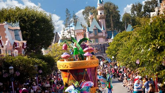 Pixar Play Parade coming down Main Street
