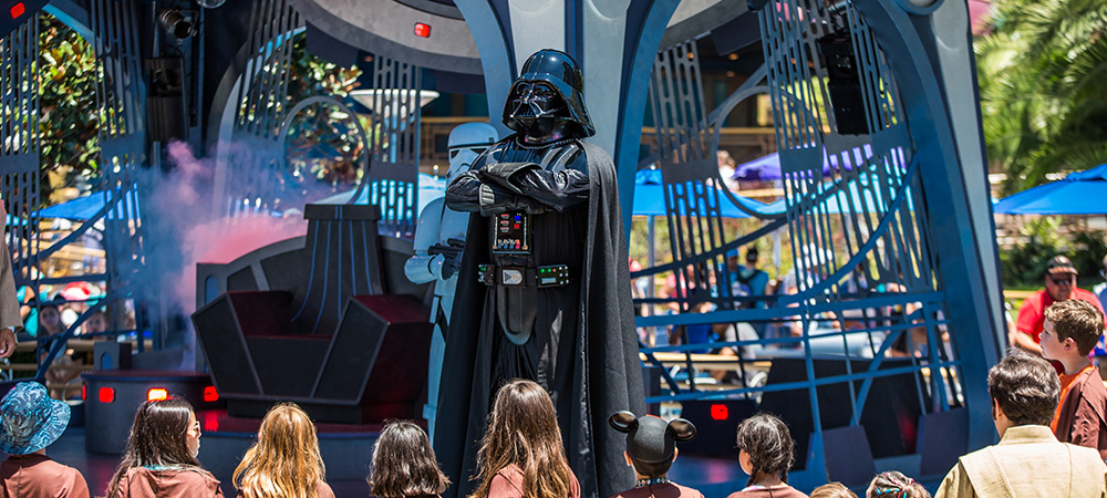 Darth Vader on the stage during Jedi Training