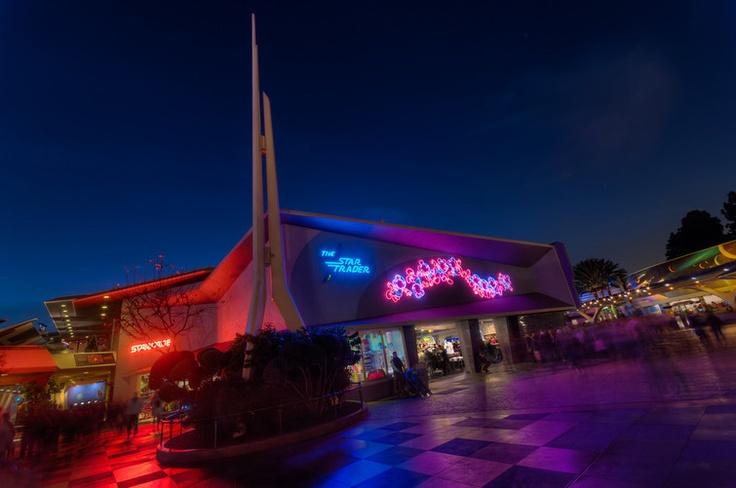 Star Trader at night in Disneyland