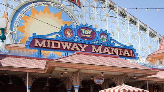 Toy Story Midway Mania sign