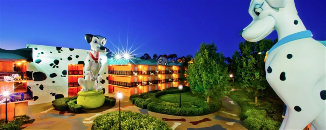 Outside of the WDW Movies hotel