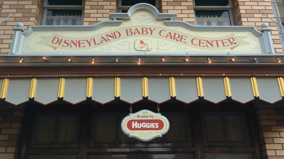 Babies at Disneyland: Baby Care Center Sign