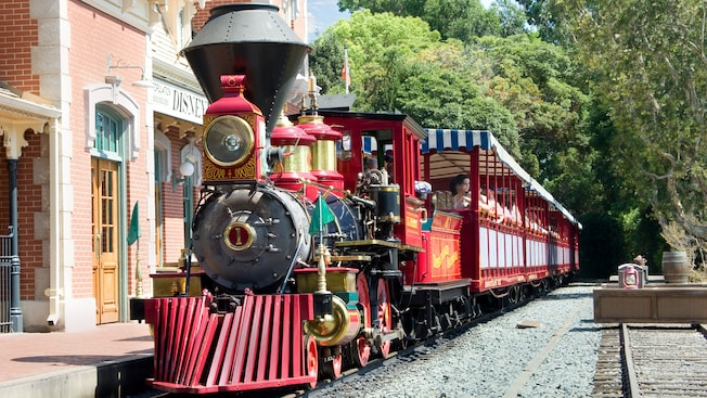 Close up of Disneyland railroad