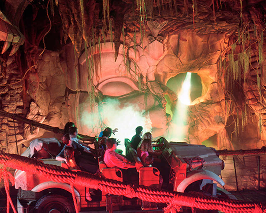 Indiana Jones ride in the temple