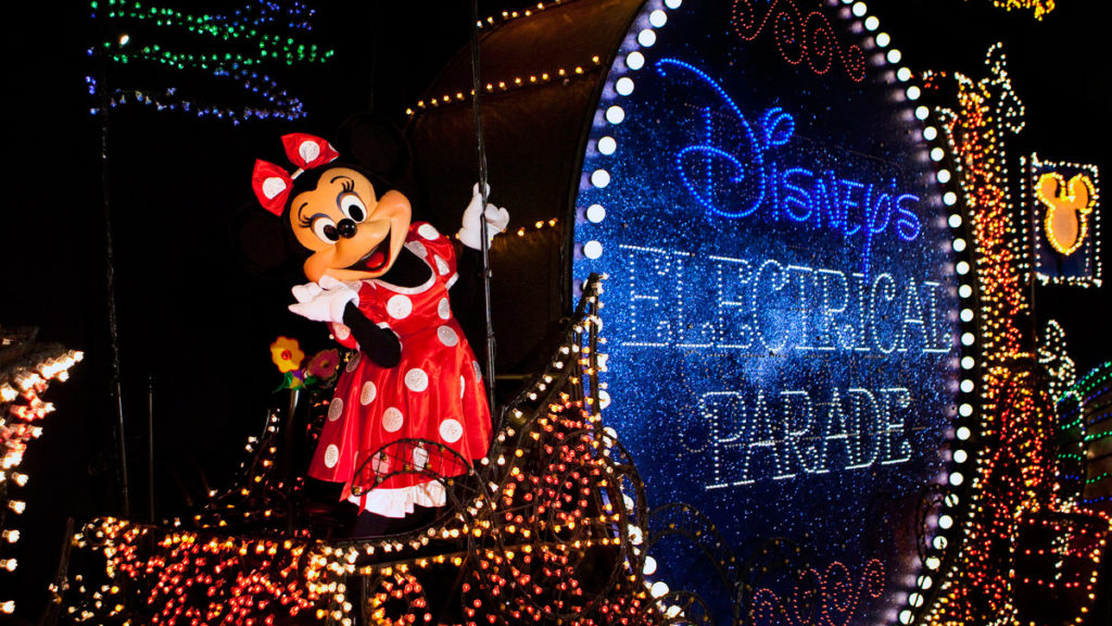 Minnie Mouse during Electrical Parade