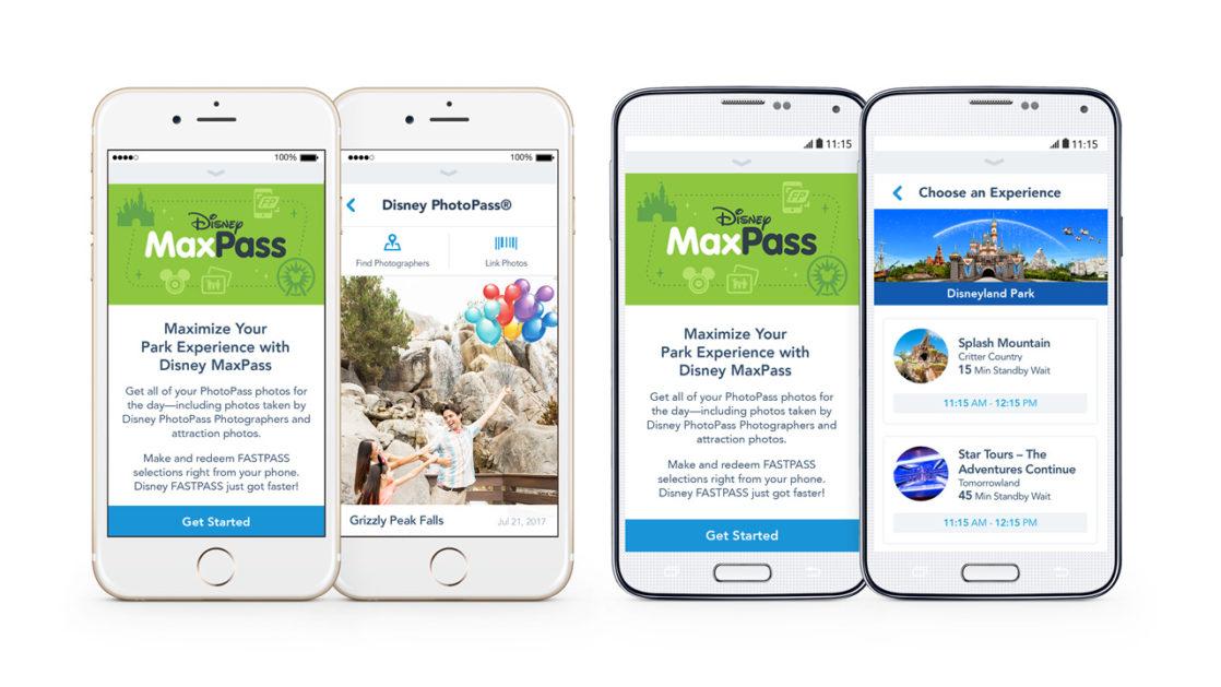 Phone with the Disneyland app