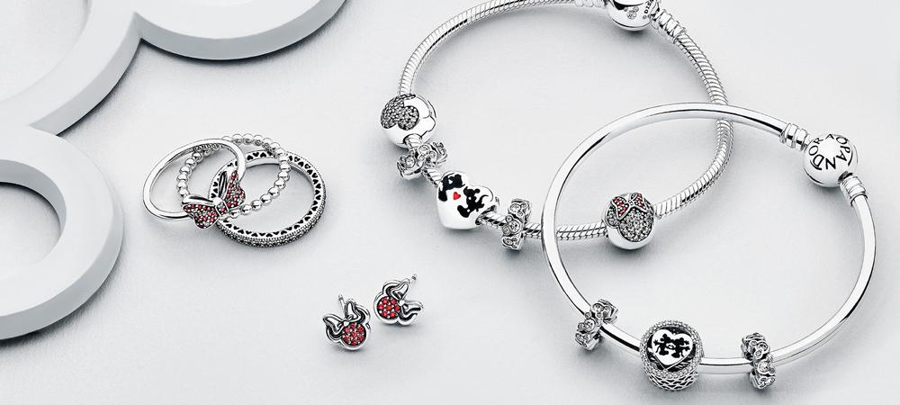 Bracelets and rings from Pandora jewlery