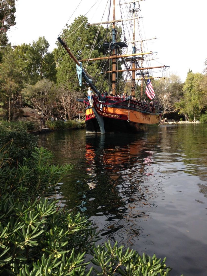 Pirate ship Columbia on the water