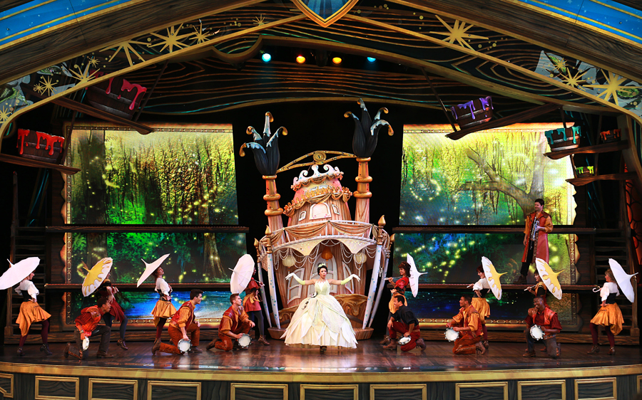 The stage during Mickey and the Magical Map