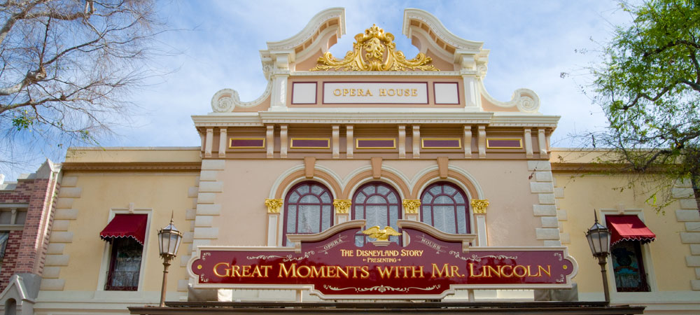 Sign for the Great Moments with Mr. Lincoln: Disneyland Shows