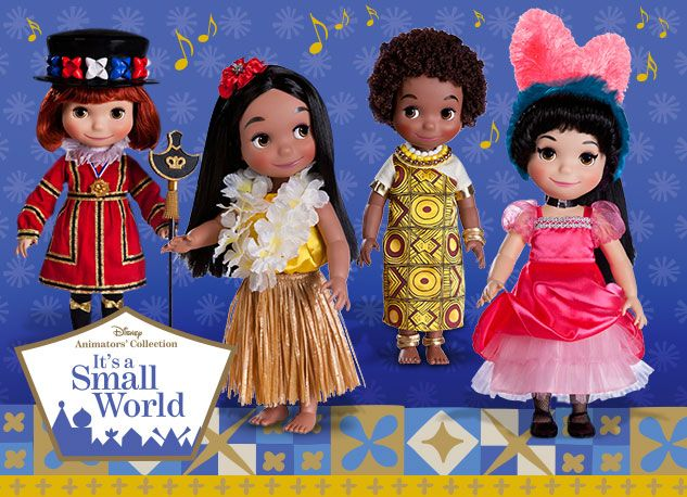 dolls at the it's a small world toy shop