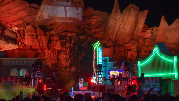 Cars Land night celebration for Grad Nights