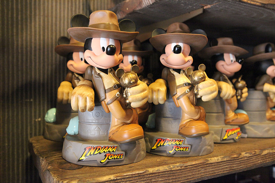 Mickey Mouse dressed as Indiana Jones statue