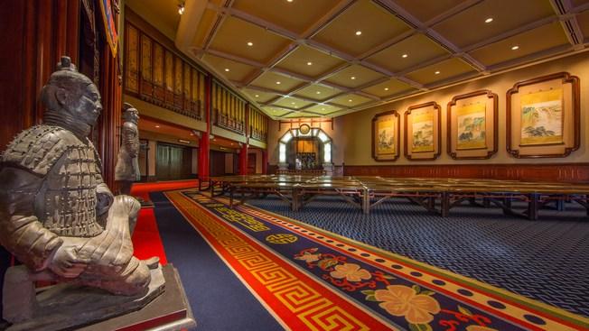 Inside of the China pavilion