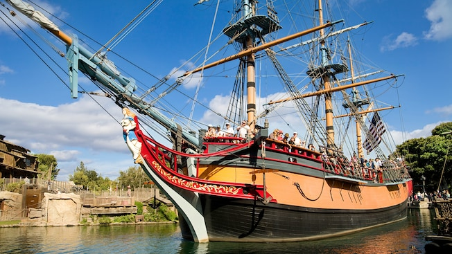 When Disneyland is Crowded: Sailing Ship Columbia