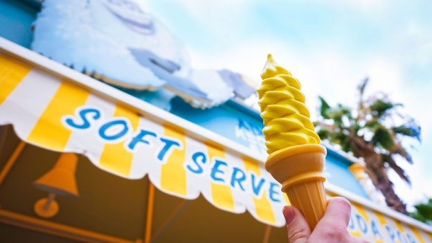 Lemon icecream in front of the Adorable Snowman treat stand